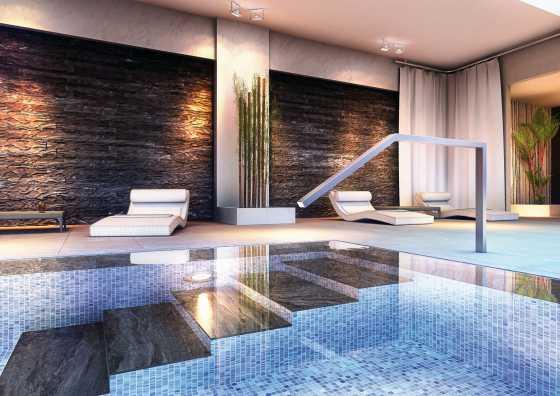 Indoor Swimmingpool mit Mosaik ausgekleidet
