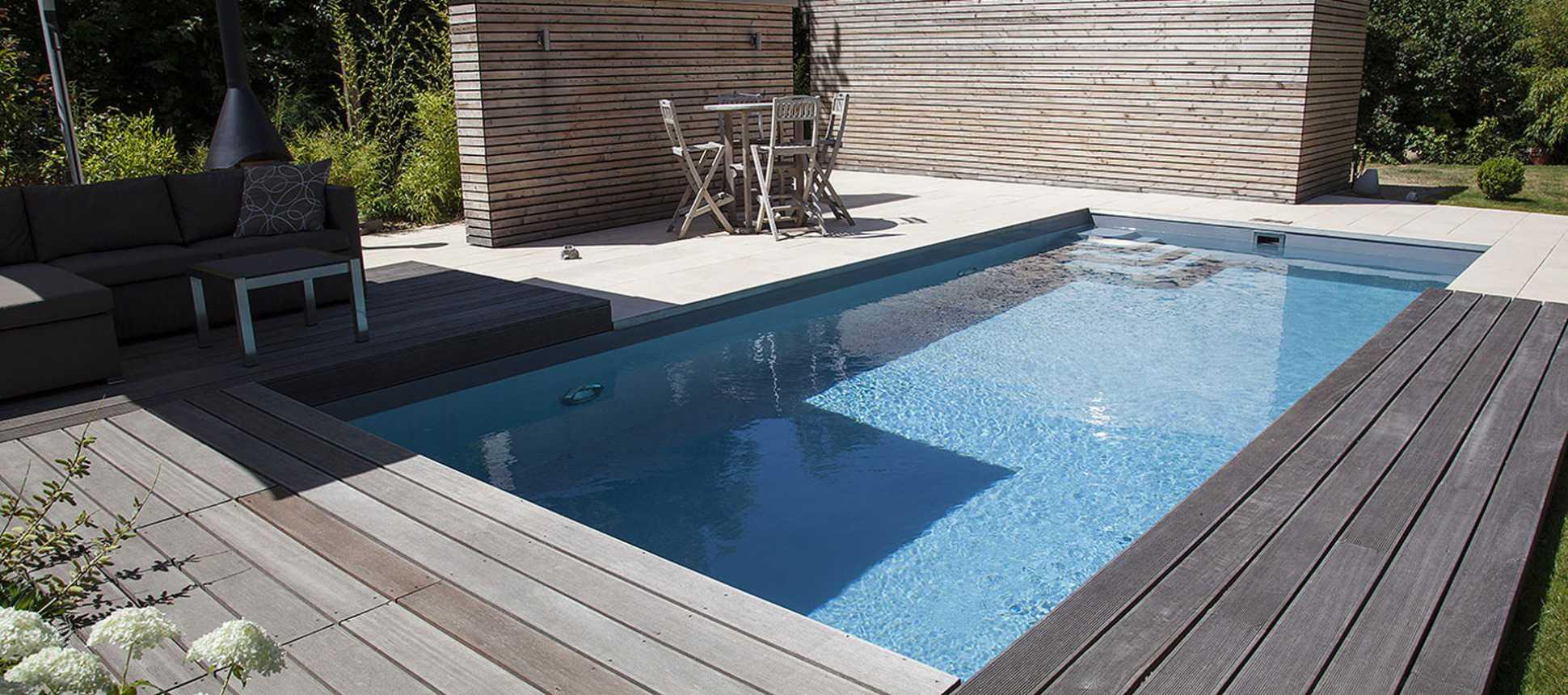 Polystonebecken Swimmingpool Niveko