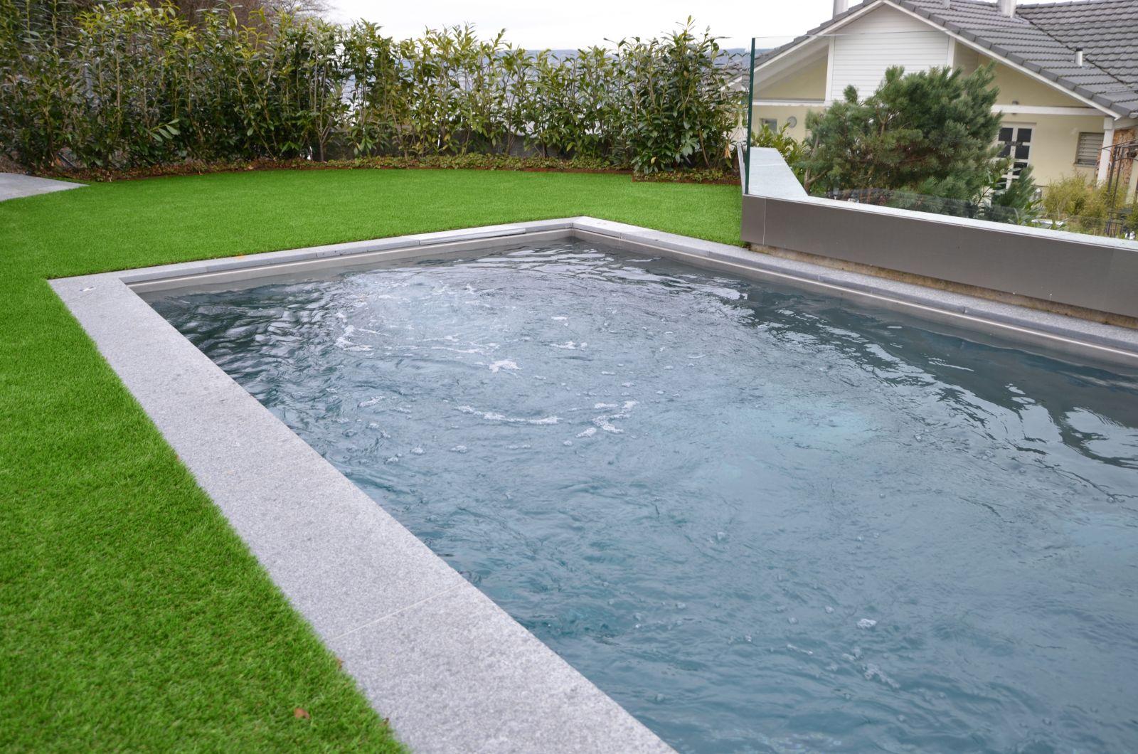 Versenkbarer Pool terramare pool edelstahlpool mit hubboden versenkbarer poolboden