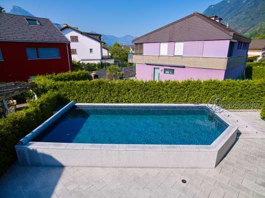 Schwimmbad Typ Edelweiss mit Folienauskleidung