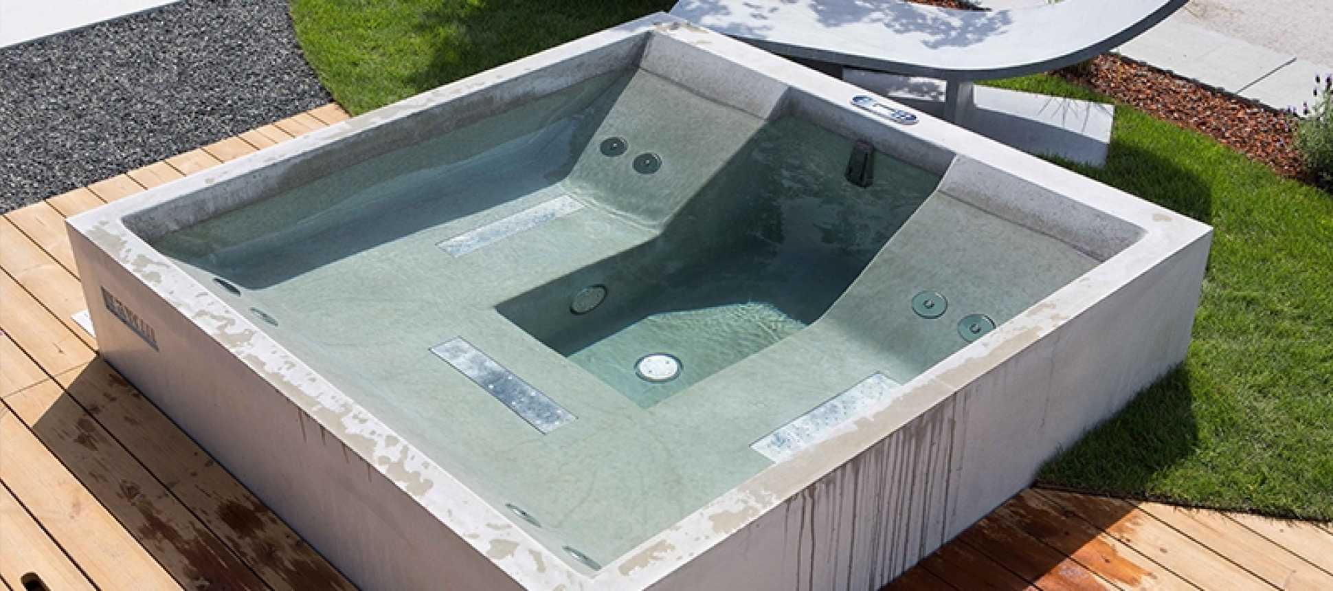 HotStone Whirlpool, Sichtbeton Whirlpool