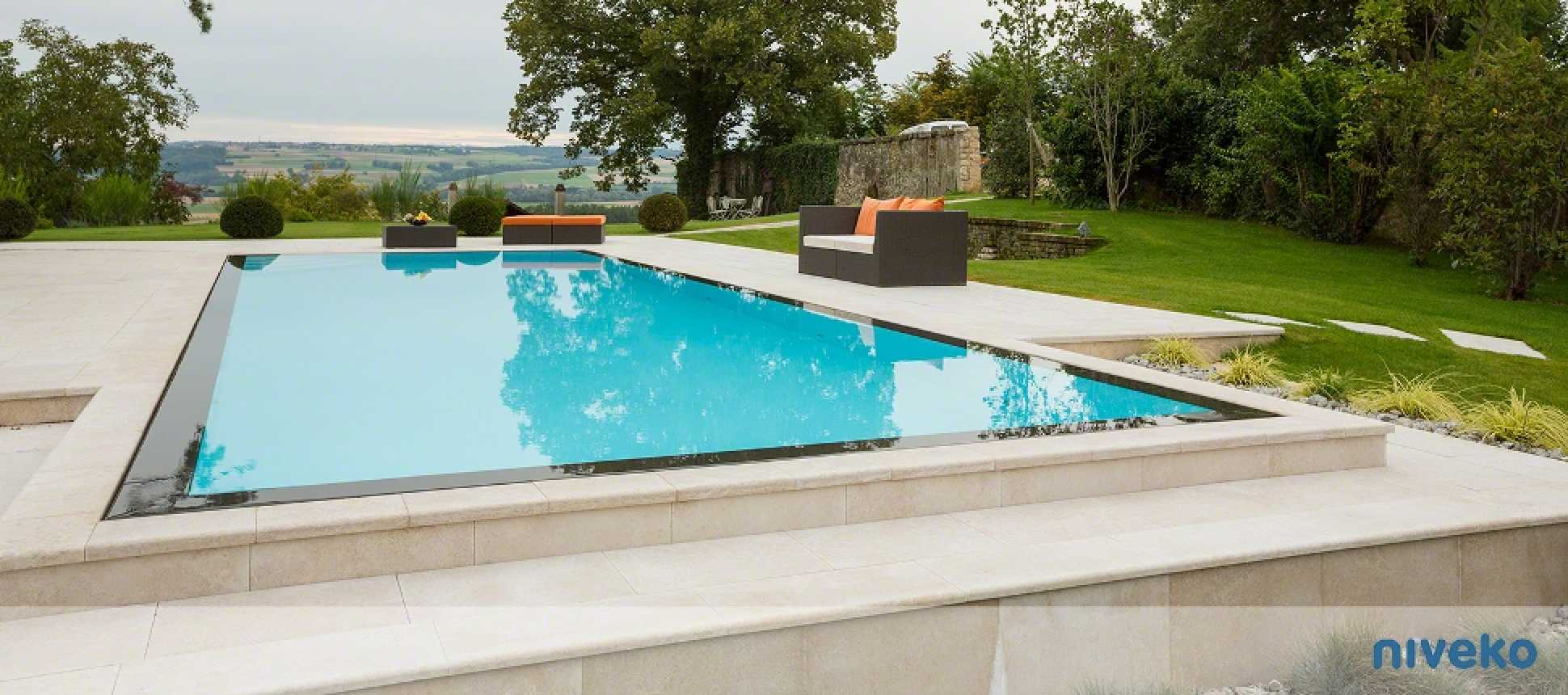 Polystonebecken Swimmingpool Niveko