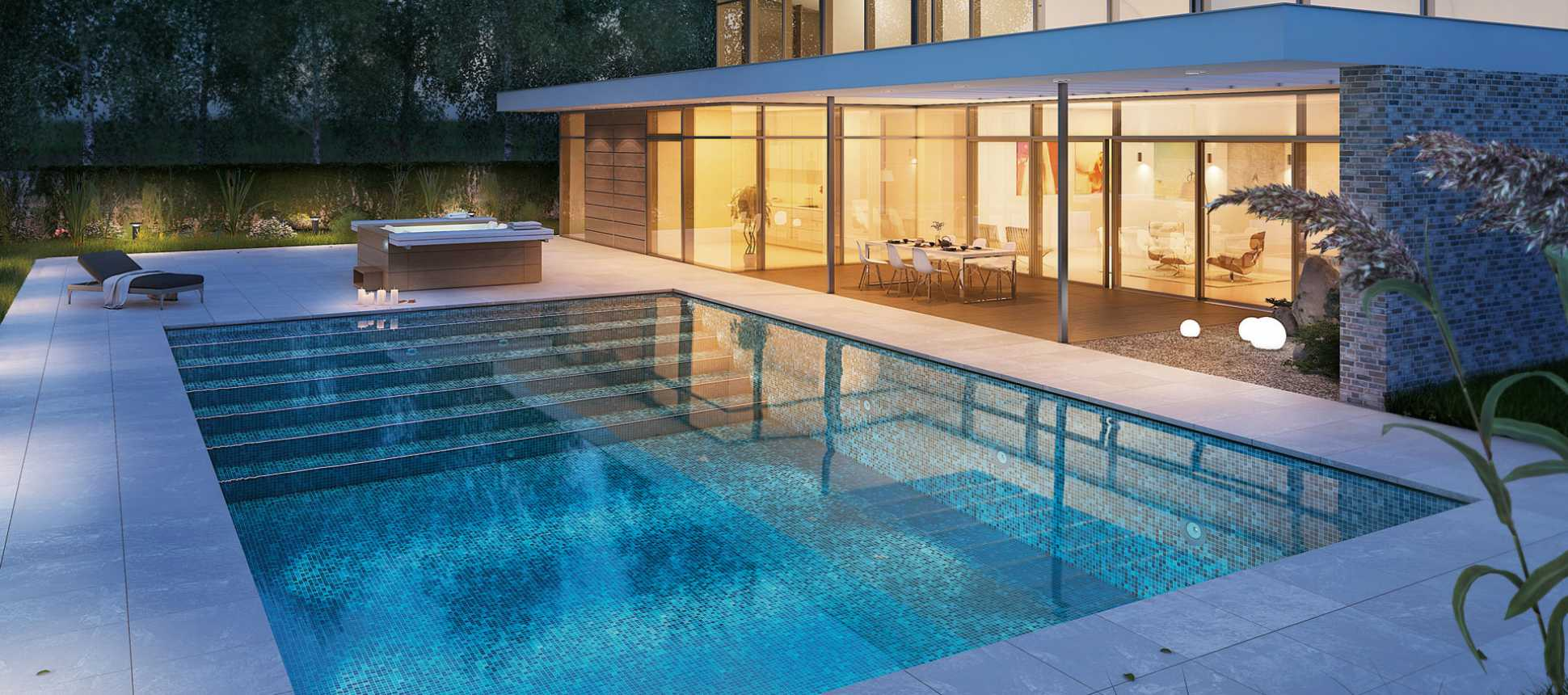Swimming Pool MLine Mosaikbecken